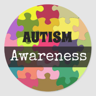 AUTISM Awareness Puzzle pieces Stickers