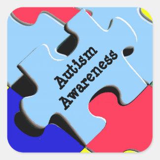 Autism Awareness  Puzzle Pieces Stickers