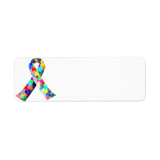 Autism Awareness Puzzle Ribbon Address Labels