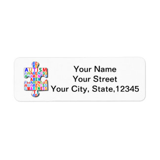 Autism Awareness Return Address Label