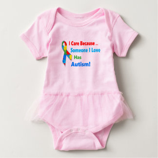 Autism awareness ribbon design baby bodysuit