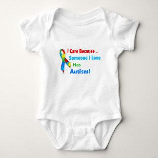 Autism awareness ribbon design baby bodysuit