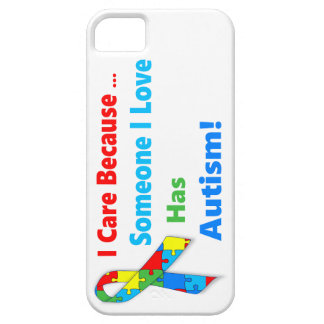 Autism awareness ribbon design barely there iPhone 5 case