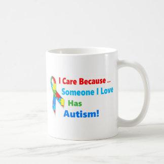 Autism awareness ribbon design coffee mug