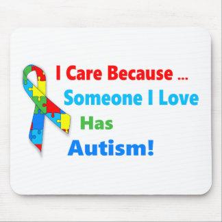 Autism awareness ribbon design mouse pad