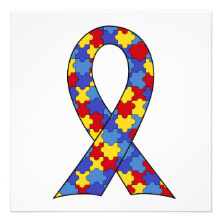 Autism Awareness Ribbon Personalized Announcements
