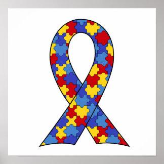 Autism Awareness  Ribbon Print