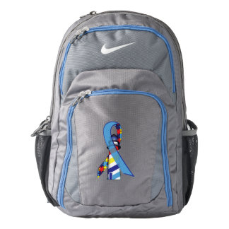 Autism Awareness Ribbon with Lighthouse of Hope Backpack