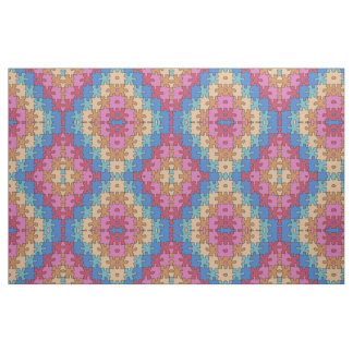 Autism Awareness - Rose Blue - Puzzle Pieces Fabric