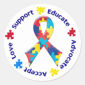 Autism Awareness Round Sticker