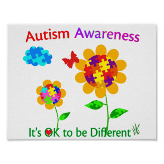 Autism Awareness Sunflower Poster