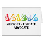 Autism Awareness : Support Educate Advocate Card