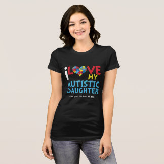 Autism Awareness T-shirt love my autistic daughter