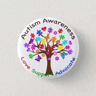 Autism Awareness Tree 3 Cm Round Badge