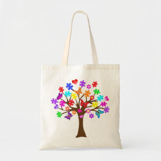 Autism Awareness Tree Tote Bag