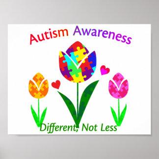 Autism Awareness Tulip Poster