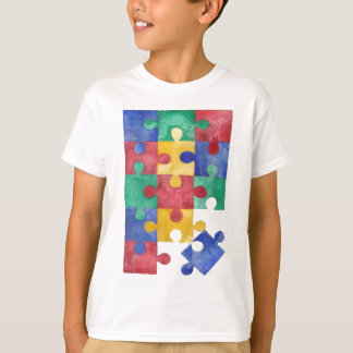 Autism Awareness watercolor puzzle T-Shirt
