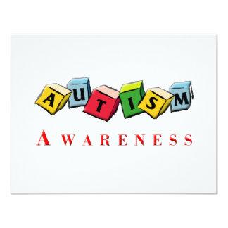 Autism Awaress 11 Cm X 14 Cm Invitation Card