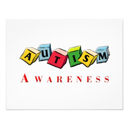 Autism Awaress Invitations