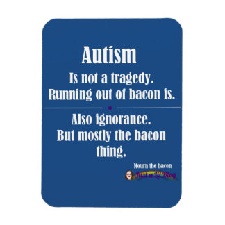 autism bacon tragedy car magnet dark
