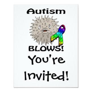 Autism Blows Awareness Design 11 Cm X 14 Cm Invitation Card