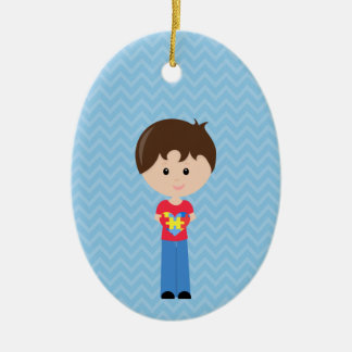 Autism Boy personalizable upon request Ceramic Ornament