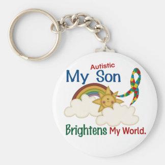 Autism BRIGHTENS MY WORLD 1 Son Key Chain