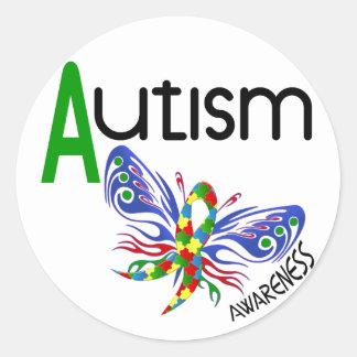 AUTISM Butterfly 3.1 Round Sticker