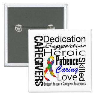 Autism Caregivers Collage 15 Cm Square Badge