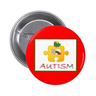 Autism Christmas Button