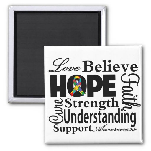 Autism Collage of Hope Magnets