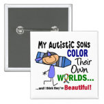Autism COLOR THEIR OWN WORLDS Sons Pin