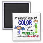 Autism COLOR THEIR OWN WORLDS Students Fridge Magnets