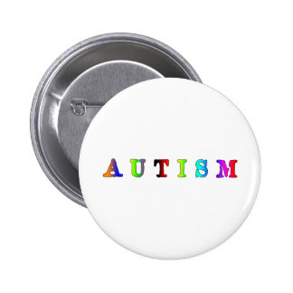 Autism Colorful 6 Cm Round Badge