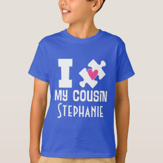 Autism Cousin Personalised Awareness T-shirt