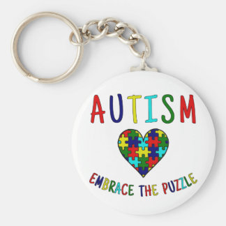 Autism Embrace The Puzzle Key Ring