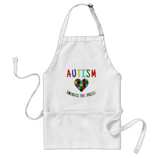 Autism Embrace The Puzzle Standard Apron