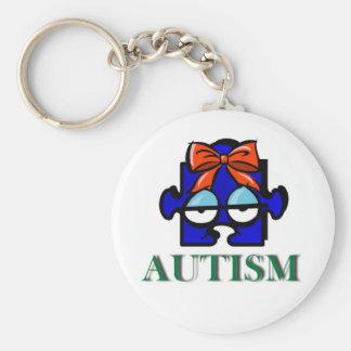 Autism Face Keychain
