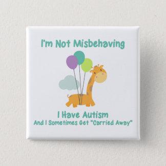 Autism Giraffe 15 Cm Square Badge