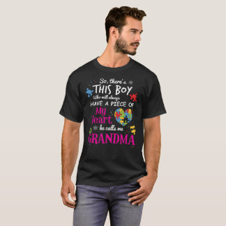 Autism Grandma Piece Of My Heart Awareness Shirt