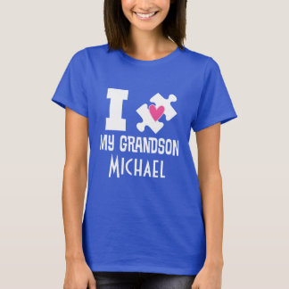 Autism Grandson Personalised Awareness T-shirt