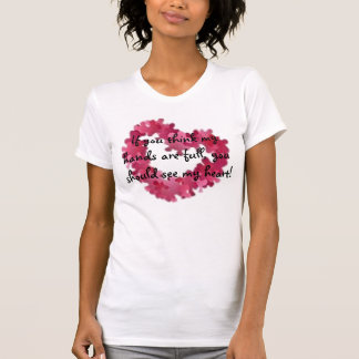 autism heart, If you think my hands are full, y... Shirts
