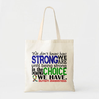 Autism How Strong We Are Budget Tote Bag