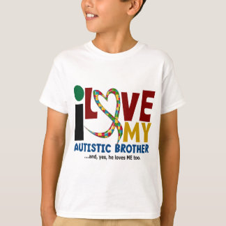 AUTISM I Love My Autistic Brother 2 Tee Shirts