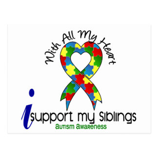 Autism I Support My Siblings Postcard