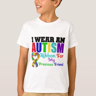 Autism I Wear Ribbon For My Precious Friend Tees