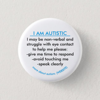 Autism information badge