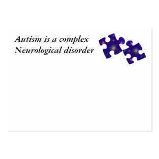 Autism Information Card- Customizable Pack Of Chubby Business Cards