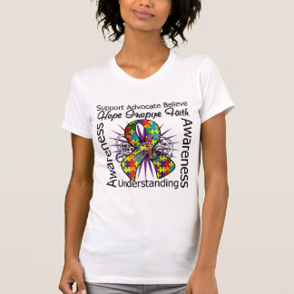 Autism Inspirations Spiral Ribbon T Shirt