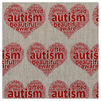 Autism is Beautiful Fabric